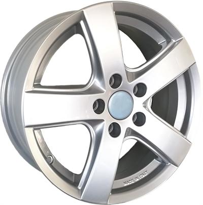 420508 FON WI01 6516511239S Fondmetal WI01 fælg, 6.5x16 ET39.5, 112.00/5, Ø66.6, Silver - RESTPARTI Fondmetal