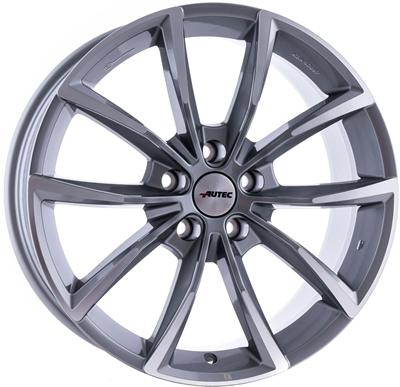 438150 AUT AST 9020511430 Autec Astana fælg, 9x20 ET30, 114.30/5, Ø70, titanium silver polished Autec