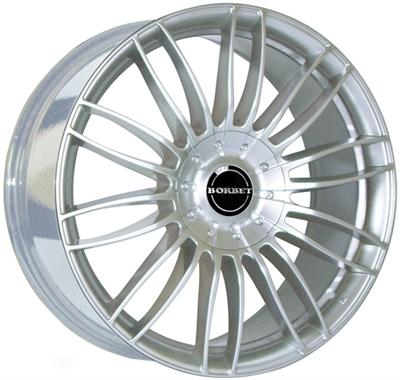250438 BOR CW31 8519512035D Borbet CW3 fælg, 8.5x19 ET35, 120.00/5, Ø72.6, sterling silver Borbet