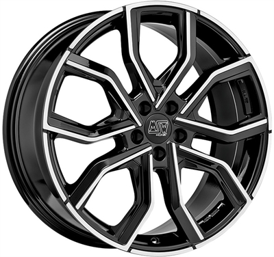 455566 MSW 41BP 8520511430 MSW 41 fælg, 8.5x20 ET30, 114.30/5, Ø73, gloss black full polished MSW